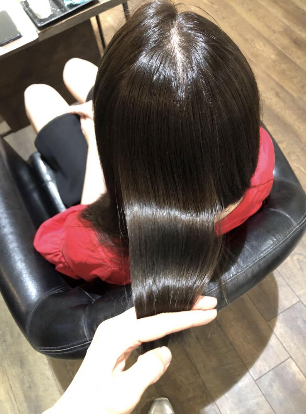乾かすだけでまとまる髪型(ロング)